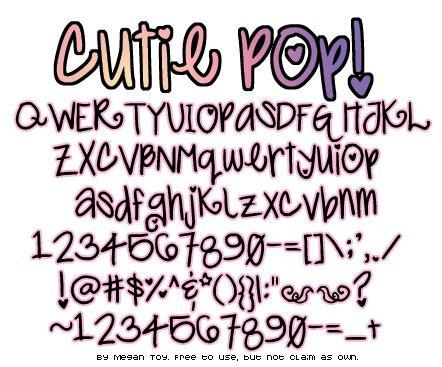 Download Cutie Pop font (typeface)