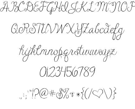 Download Janda Cheerful Script font (typeface)