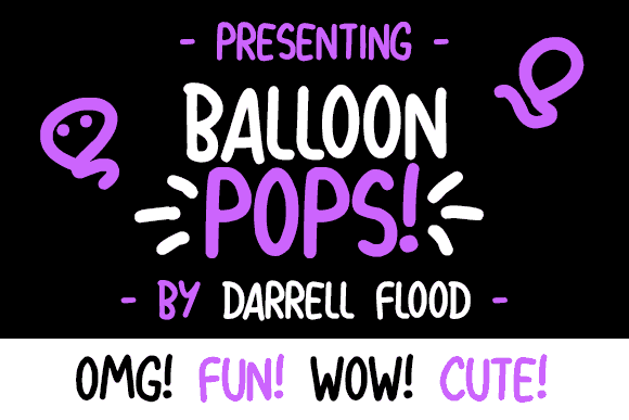 Download Balloon Pops font (typeface)