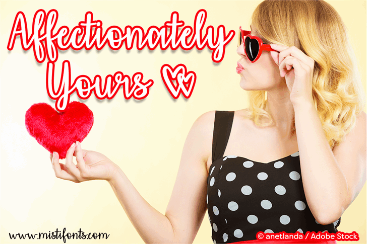 Download Affectionately Yours font (typeface)