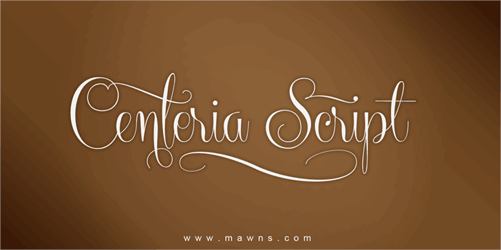 Download Centeria Script Demo font (typeface)