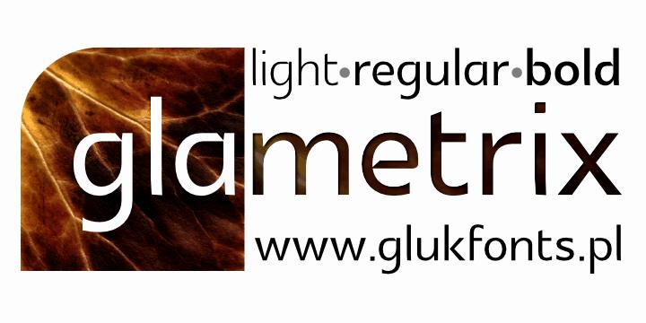 Download Glametrix font (typeface)