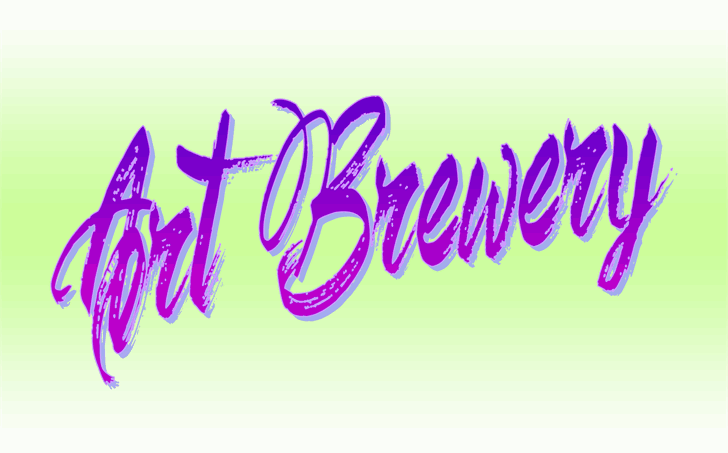 Download Art Brewery font (typeface)