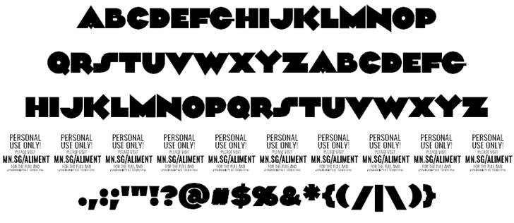 Download Aliment font (typeface)