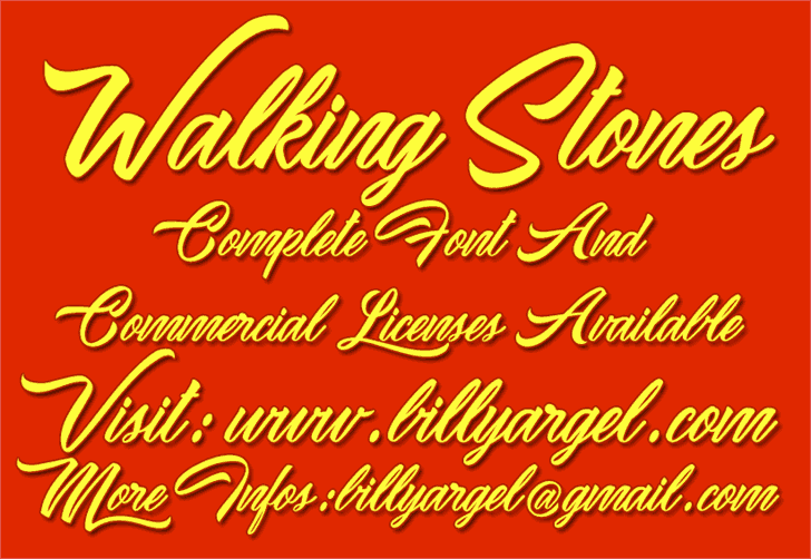 Download Waking Stones font (typeface)