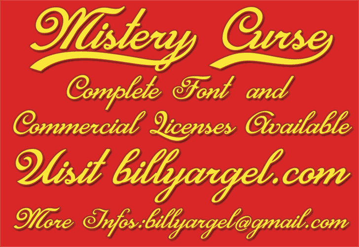 Download Mistery Curse font (typeface)