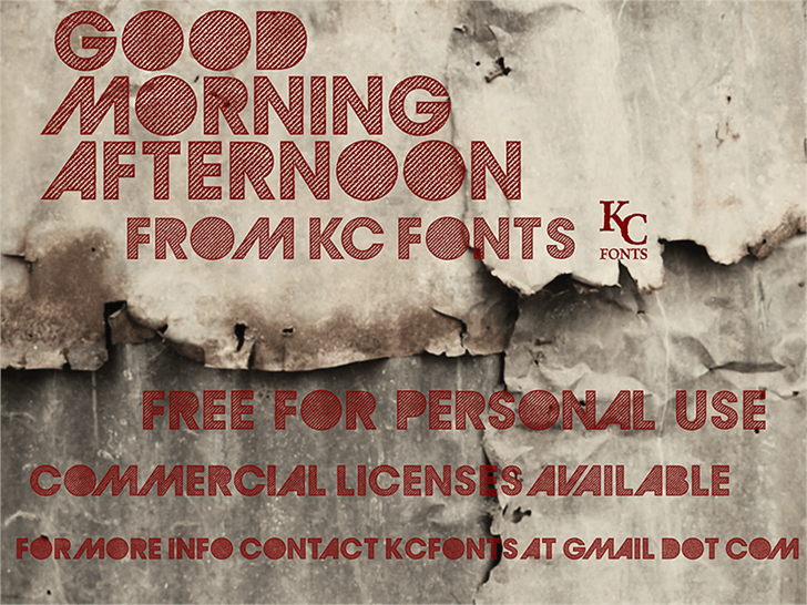 Download GoodMorningAfternoon font (typeface)