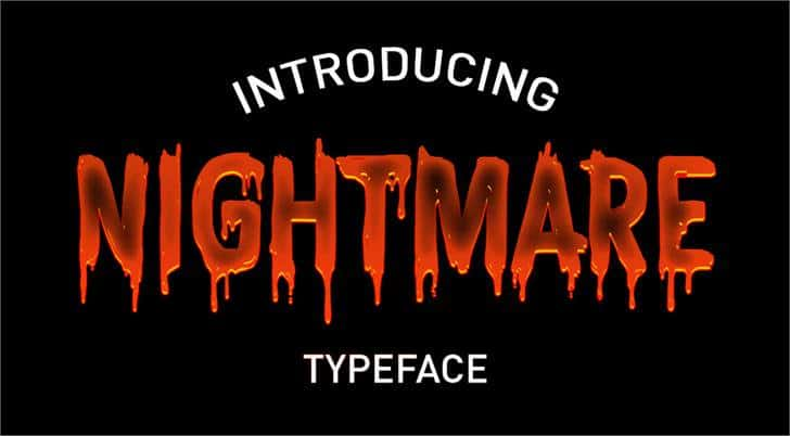Download CF Nightmare font (typeface)