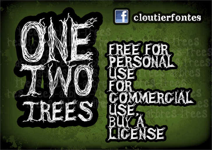 Download CF One Two Trees font (typeface)