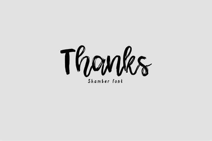 Download Shamber font (typeface)
