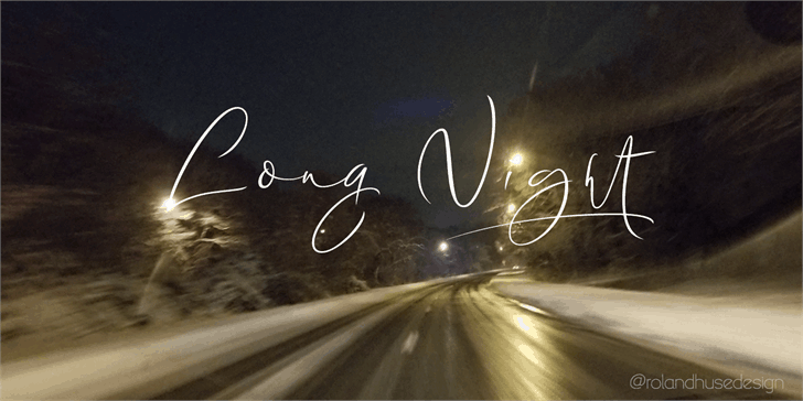 Download Long Night Demo font (typeface)