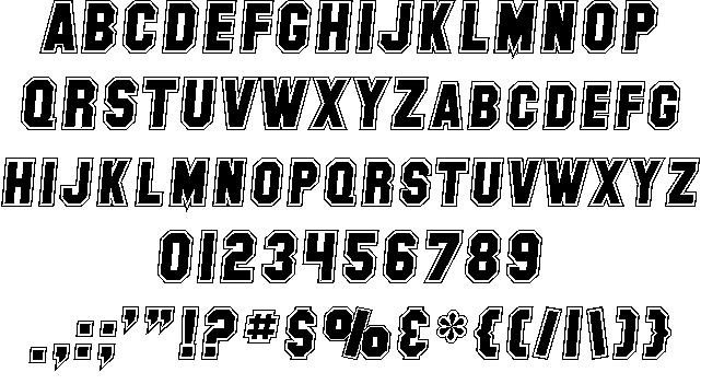Download SF Collegiate font (typeface)
