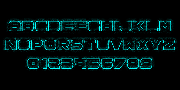 Download Spac3 neon font (typeface)