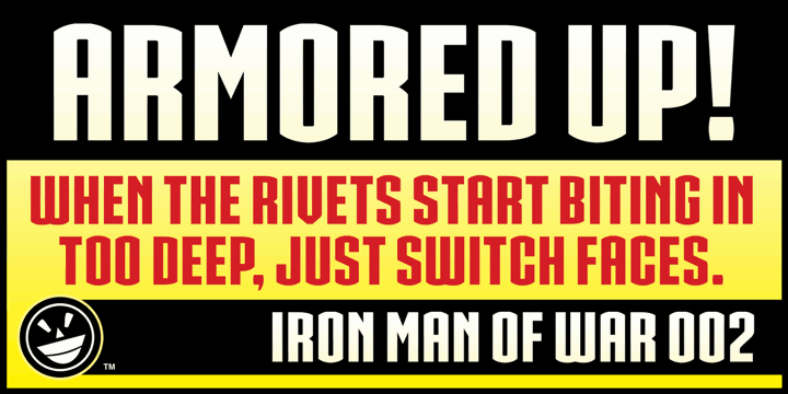 Download IRON MAN OF WAR font (typeface)