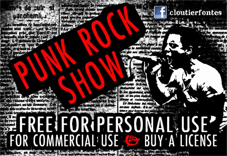 Download PunkRockShow font (typeface)