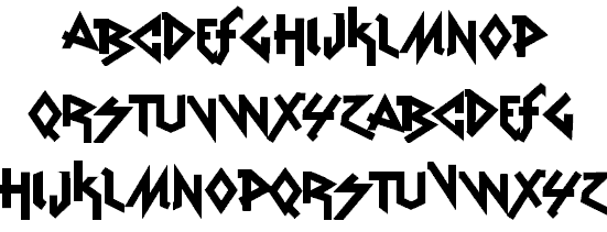 Download Vtks Rude Metal font (typeface)