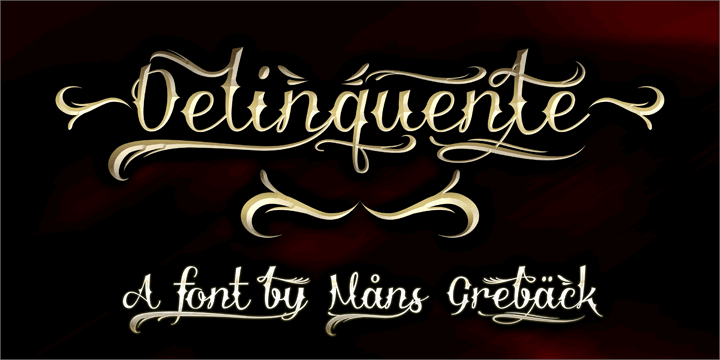 Download Delinquente font (typeface)