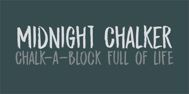 Download DK Midnight Chalker font (typeface)
