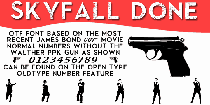Download SkyFall Done font (typeface)