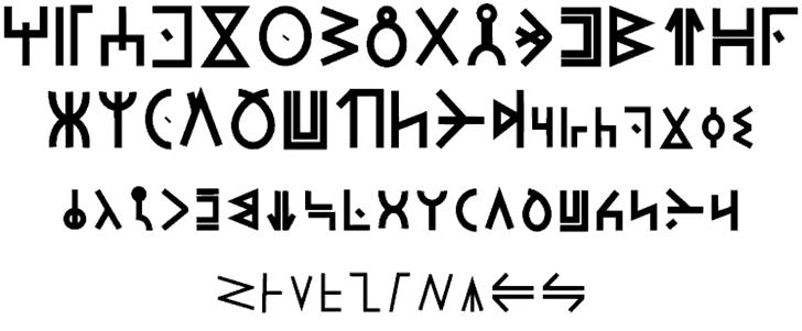 Download Modern Wakandan font (typeface)