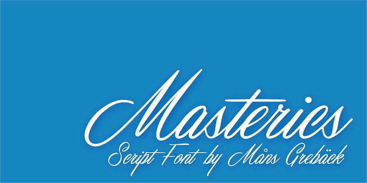 Download Masterics font (typeface)