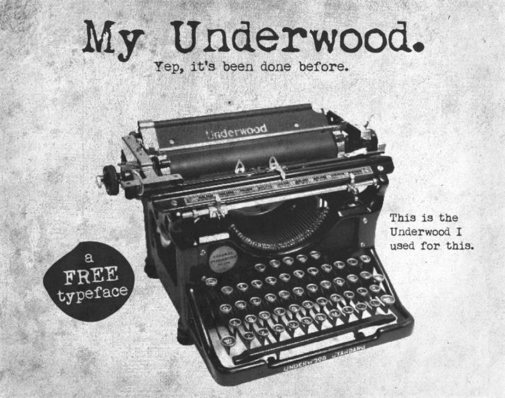 Download My Underwood font (typeface)