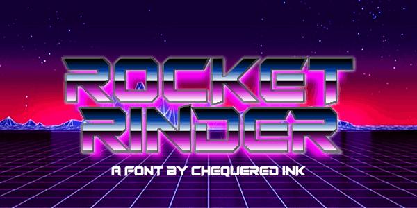 Download Rocket Rinder font (typeface)