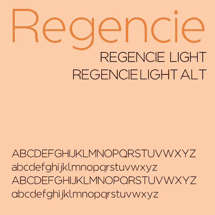 Download Regencie font (typeface)