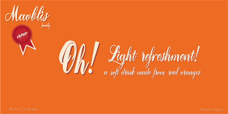 Download Mavblis Demo font (typeface)