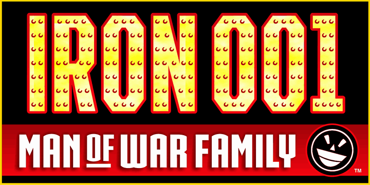 Download IRON MAN OF WAR font (typeface)