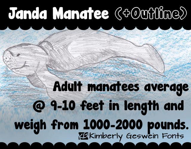 Download Janda Manatee font (typeface)