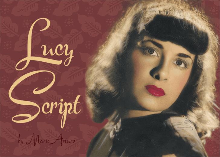 Download Lucy Script font (typeface)