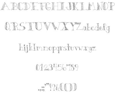 Download DJB Monkey Scratches font (typeface)