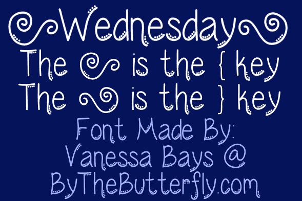 Download Wednesday font (typeface)