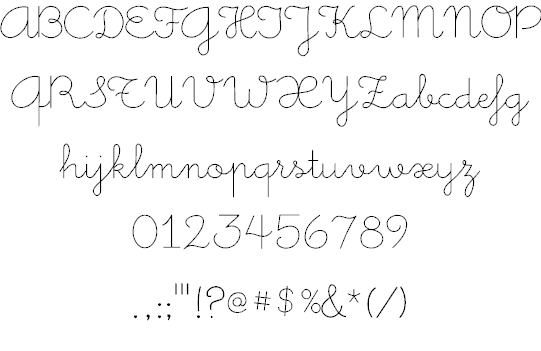 Download Little Days font (typeface)