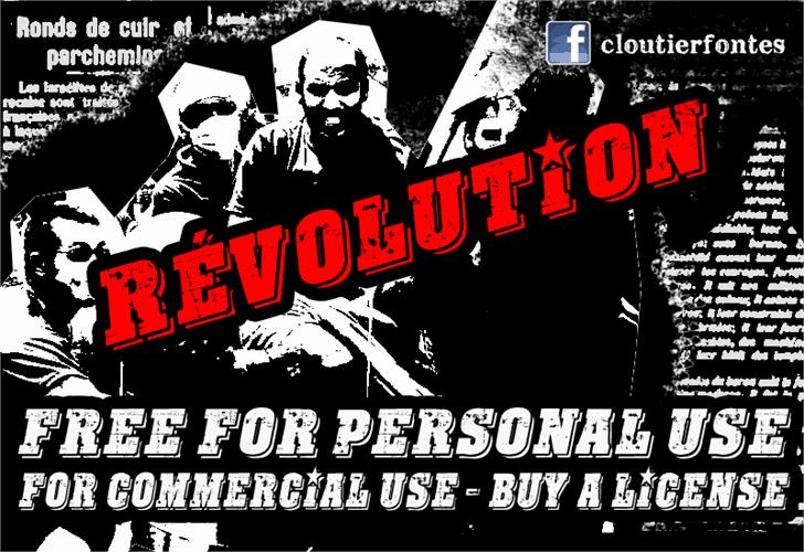 Download CF Revolution font (typeface)