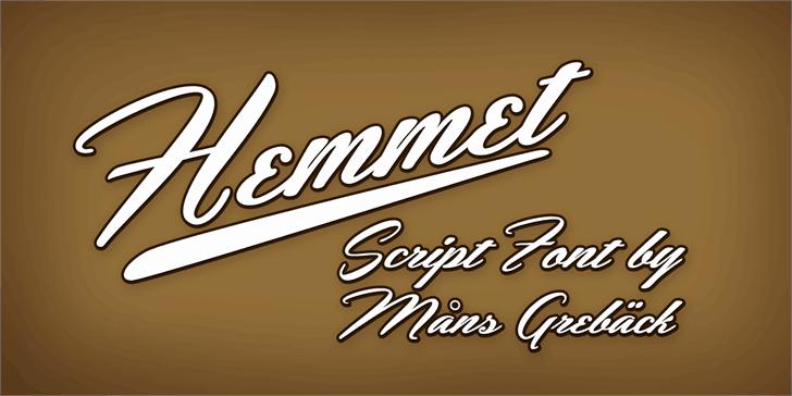 Download Hemmet font (typeface)