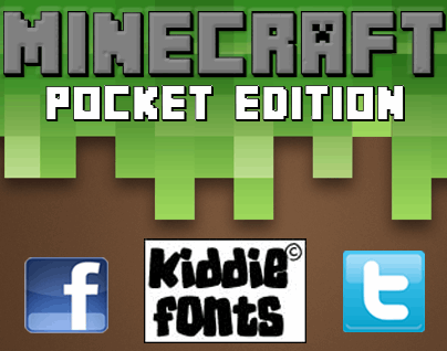 Download MINECRAFT PE font (typeface)