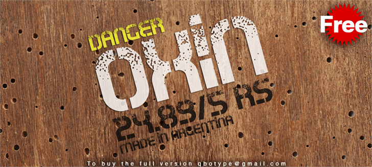 Download Oxin War font (typeface)