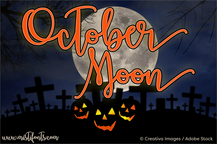 Download October Moon font (typeface)