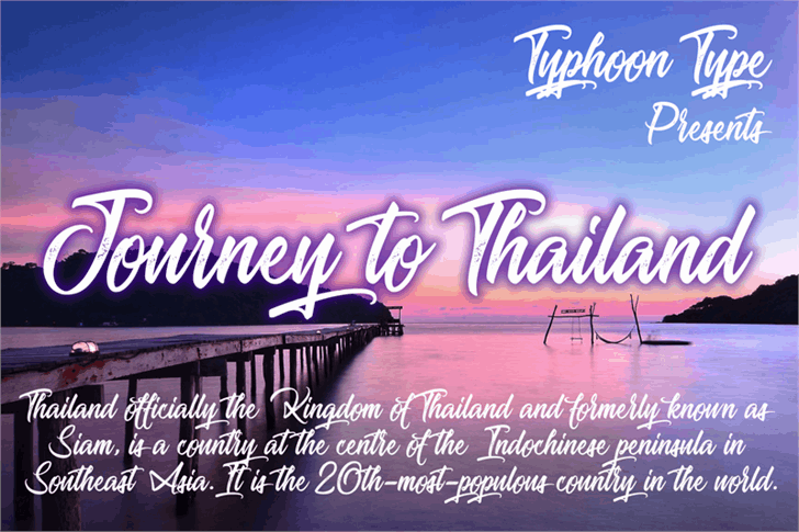 Download Journey to Thailand font (typeface)