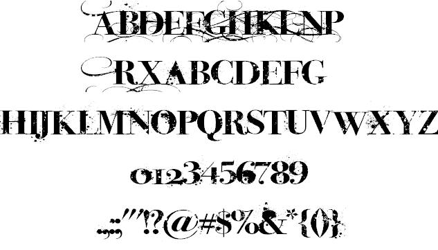 Download iNked God font (typeface)