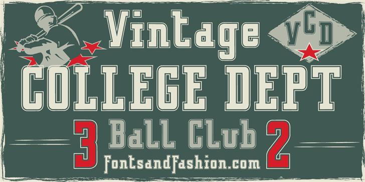 Download VINTAGE COLLEGE DEPT font (typeface)