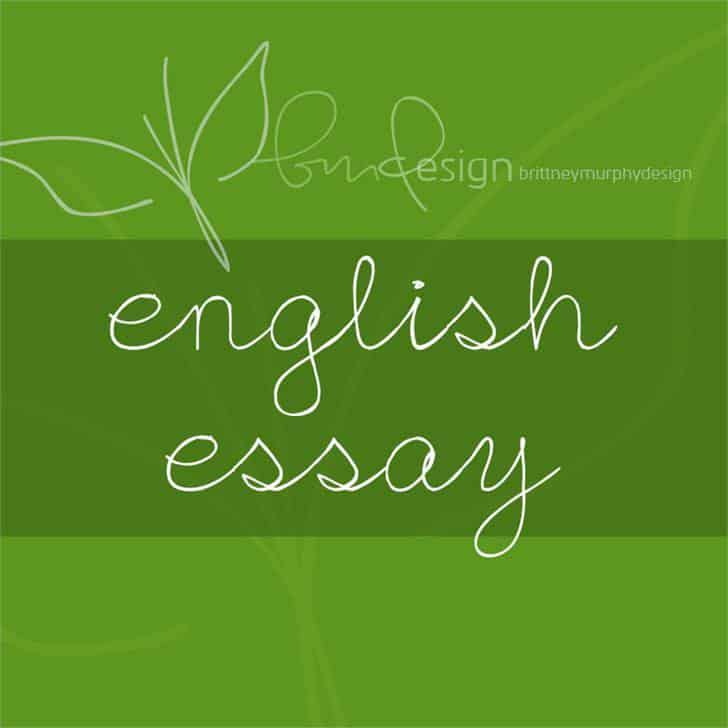 Download English Essay font (typeface)