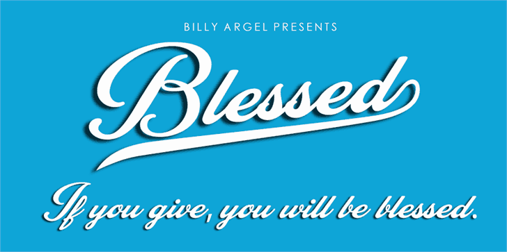 Download Blessed font (typeface)