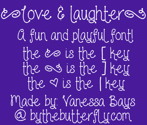 Download Love and laughter font (typeface)