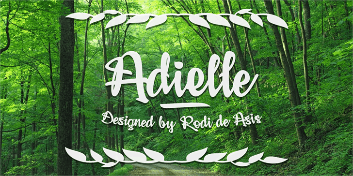 Download Adielle font (typeface)