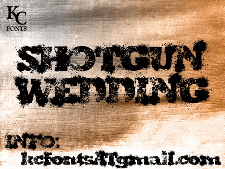 Download Shotgun Wedding font (typeface)