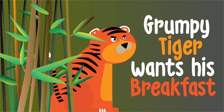 Download DK Grumpy Tiger font (typeface)
