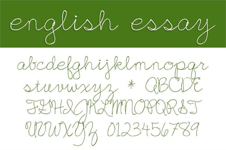 Download English Essay Font Typeface